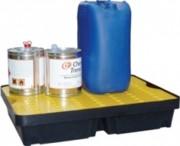 Bac de rétention 40 litres - stockage de petits contenants - Pour petits conditionnements - Stockage de produits chimiques et corrosifs - Disponible en plusieurs dimensions et capacités de rétention