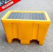 Bac de rétention à caillebotis amovible occasion - Volume de rétention : 225 L - Charge admi. : 300 kg