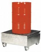 Bac de rétention acier caillebotis - Capacité de rétention : 220 litres