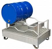 Bac de rétention acier galvanisé pour fûts - Capacité (L) : 220