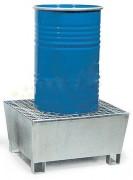 Bac de rétention acier pour 1 fût - Volume de rétention : 220 litres
