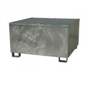 Bac de rétention acier pour 1 transicuve galvanisé - Volume de rétention : 1000 litres