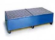 Bac de rétention acier pour 2 transicuves - Charge admissible : 3000 kg