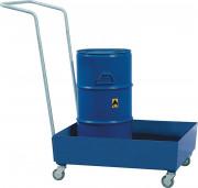Bac de rétention acier pour des fûts 2 x 200 L - Capacité (litre) : 200 - Capacité de charge (kg/m²) : 850