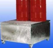 Bac de rétention acier pour IBC - En acier galvanisé - Avec caillebotis amovibles - Pour IBC ou Cubitainer