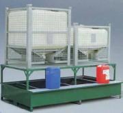 Bac de rétention acier rigide pour cubitainer - Capacité de rétention : 1240 litres