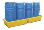 Bac de rétention avec caillebotis plastique - Charge admissible : 1100 kg