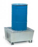Bac de rétention conique pour 1 fût - Charge admissible : 400 kg