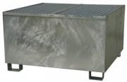 Bac de rétention en acier galvanisé à chaud - Charge utile (Kg) : 1200