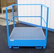 Bac de rétention en métal - Capacité de rétention de 240, 440 ou 1050 litres
