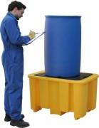 Bac de rétention en PEHD 1 fût - Capacité de rétention : 250 litres