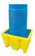 Bac de rétention en PEHD - Capacités de rétention : 100 ou 200 litres