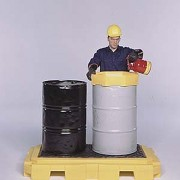 Bac de rétention en PEHD 2 fûts ultra plat - Volume de rétention : 250 litres