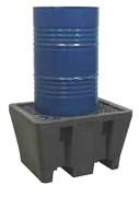Bac de rétention en Pehd à caillebotis acier - Volume de rétention : 225 litres