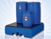 Bac de rétention en plastique polyéthylène - Bac en plastique pour stockage de produits corrosifs – Disponible en plusieurs modèles