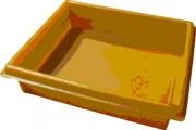 Bac de rétention en polyéthylène 20 litres - Dimensions (L x l x h) : 540 x 450 x 135 mm