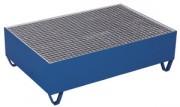 Bac de rétention en tôle d'acier - Capacité de charge (kg) : 250 - 500 - 1000