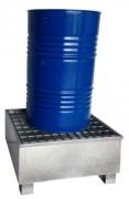Bac de rétention fût debout - Charge admissible : 500 kg - Volume de rétention : 220 L
