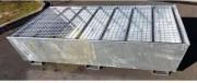 Bac de rétention galvanisé pour 2 IBC - En acier galvanisé pour 2 IBC ou 8 fûts