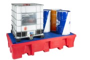 Bac de rétention grand volume - 8 fûts de 220 litres ou 2 containers IBC de 1000 litres