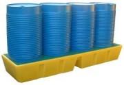 Bac de rétention longitudinal - Capacité de rétention : 450 litres - 4 fûts