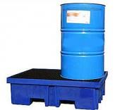 Bac de rétention PEHD 2 fûts 60 Litres - Stockage de fûts de 60 ou 200 litres