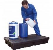 Bac de rétention petit contenant - Capacité : de 10 à 100 L - Charge maxi : de 50 à 200 kg