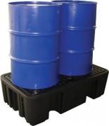 Bac de rétention plastique 220 litres - Capacité de rétention : 220 litres