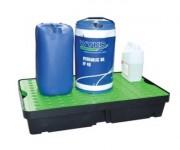 Bac de rétention plastique 60 litres - Dimensions : 1000 x 600 x 175 mm