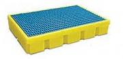 Bac de rétention plastique à Caillebotis amovible - Capacités de rétention : 100 litres