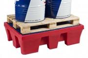 Bac de rétention plastique pour 2 fûts - Capacité de rétention de 240 litres