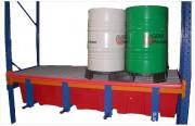 Bac de rétention plastique pour 2 fûts 220 litres - Capacité : de 60 à 450 Litres