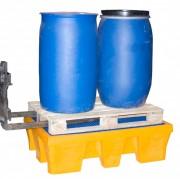 Bac de rétention plastique pour fûts - Capacité : 240 – 450 L