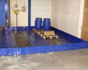 Bac de rétention pliable 4875 litres - Souple - Capacité : 4875 litres