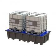 Bac de rétention polyéthylène - Modèle : 1, 2 ou 4 fûts de 220 litres