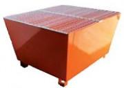 Bac de rétention pour 1 transicuve 1500 kg - Charge admissible : 1500 kg