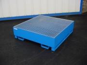 Bac de rétention pour 2 à 8 fûts - Capacité de rétention de 240, 440 ou 1050 litres