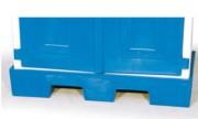 Bac de rétention pour armoire en PEHD - Dimension : 1030x530x170 mm