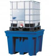 Bac de rétention pour cubitainers 1100 L - Dimensions : 1380 x 1800 x 760  mm