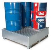 Bac de rétention pour cuve en acier - Charge admissible : 1500 kg - Volume de rétention : 440 litres