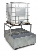 Bac de rétention pour transicuve avec réhausse - Charge admissible : Bac :1500 kg - Réhausse : 1200 kg