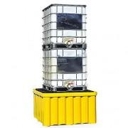 Bac de rétention renforcé en plastique - Volume de rétention : 1514 litres