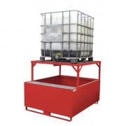 Bac de rétention rigide pour cubitainer PP1000D - Capacité de rétention : 1400 litres