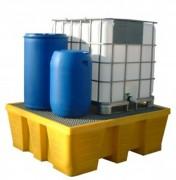 Bac de rétention rotomoulé monobloc - Volume de rétention : 1000 litres