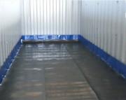 Bac de rétention souple mixte autoportant a équerres 7260 L - Dimensions : 11 m x 2,2 m - Hauteur remplie : 30 cm