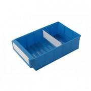 Bac divisible en plastique - Dimensions extérieures (L x l x H) mm : De 300 x 91 x 81 à 400 x 183 x 81