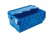 Bac en plastique avec couvercle solidaire - Dimensions extérieures (L x I x H) : Jusqu'à 800 x 400 x 400 mm