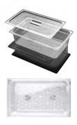 Bac en polycarbonate GN 1/4 pour cuisine - Norme : GN 1/4 - Matière : Polycarbonate