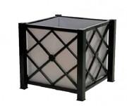 Bac en tôle galvanisée 80x80 cm - Dimensions (cm) : 80 x 80 x 80
