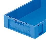 Bac plastique norme Eureka 25 litres - Capacité : 25 L - Dim :L.600 x lg.400 x H.140 mm  - Matière : polypropylène